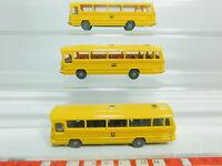 BO800-0,5# 3x Wiking H0/1:87 Bus Mercedes-Benz/MB O 302: Post/Bundespost + PTT