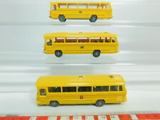 BO800-0,5# 3x Wiking H0/1:87 Bus Mercedes-Benz/MB O 302: Post/Bundespost + PTT