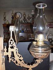 Bradley&Hubbard Wall Bracket Kerosene Oil Lamp Complete ACME Reflector MacBeth C
