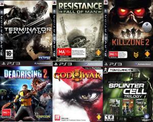 USED PS3 Video Games Batman Resistance God of War Assassin Dead Rising Killzone