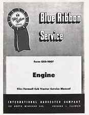 FARMALL CUB Tractor ENGINE Service manual