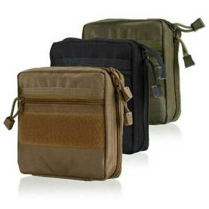 Tactical Molle Admin Pouch - 1000D Water-Resistant Compact Utility EDC Tool Bag