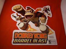 Donkey Kong Barrel Blast Nintendo Wii Store Window / Wall Sticker Display Promo