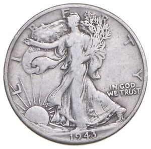 1943-D Walking Liberty 90% Silver US Half Dollar *740