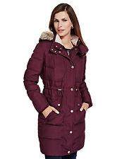 Maroon Per Una duck down ladies storm breaker coat size 10