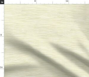 Aquarelle Stripes Brush Watercolor Beige Tan Spoonflower Fabric by the Yard