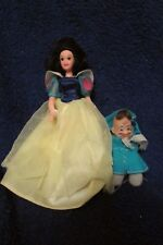 Disney Mini Snow White Doll and a Beany Doc Dwarf Doll