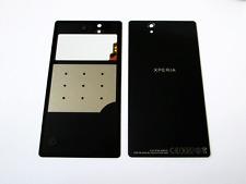 Original Sony Xperia Z L36h Batería Trasera Cubierta De Vidrio Negro Con Nfc Grado A