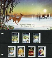 Alderney 2017 MNH Christmas Holly & Ivy 7v Set Presentation Pack Trees Stamps
