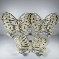 Vintage 1976 Burwood Products Co. Butterfly Hanging Wall Decor. 12 X 10 Inches