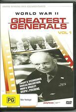 WORLD WAR II - GREATEST GENERALS VOL. 1 - DVD - NEW
