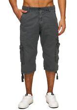 Hombres Bermudas cargo bragas 100% algodón denim pantalones cortos  carga verano