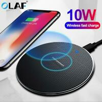 10W Fast Wireless Charger For Samsung Galaxy S10 S9/S9+ S8 Note 10, iPhone 11