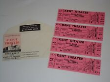 Victor Borge 4 Unused 1966 Theater Tickets Will Call Envelope Krnt Theatre Pink