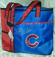 Chicago Cubs Rhinestone Blinged MLB Purse Tote Bag ~NEW~