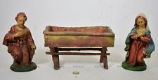 Giuseppe/Maria Sacra famiglia Vecchie Statuine Presepe ceramica/Pasta? 22cm-1HM