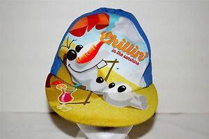 Disney Frozen Olaf Snowman Cap Hat Boys Snapback Adjustable CHILLIN IN THE SUN