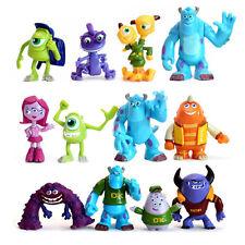 12 PCS Action Figures Monsters Inc. Monster University Sulley Mike PVC Kids Toys