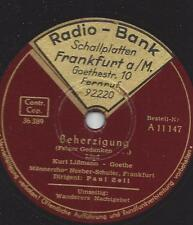 Coro maschile neeber-Schuler canta Goethe MO + Wanderers notte preghiera