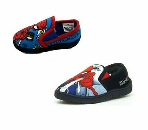 Boys Marvel Spiderman Slippers Slip On Kids Size 8-2 Official Licenced Product