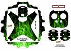 Green Fire DJI Phantom 4 P4 Skin Wrap Decal Sticker Vinyl Ultradecal Skinz