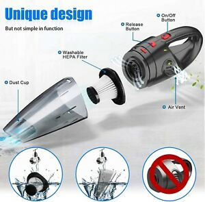 Handheld Vacuum Cordless Mini Hoover Car Vacuum Cleaner 120W Hand Held Vacuum