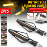Pair Motorcycle Flowing Sequential LED Turn Signal Lights Indicator Lamp Amber