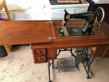 1800s Gritzner sewing machine in cabinet - rare - genuine antique