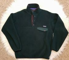 Patagonia Synchilla Snap T Fleece Pullover Mens Green Purple Size Small S