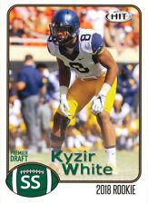 2018 SAGE-HIT Kyzir White RC WVA West Virginia MOUNTAINEERS