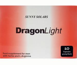10  Original Dragon Light capsules 475 mg extra strong male pills 30 min !