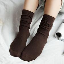 Algodón brillante color sólido Plain Moda calcetines Uno Tamaño