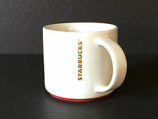 Starbucks Coffee Mug Cup White Red Large NWOT