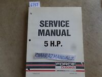 Force Outboard 5 HP Service Manual OEM  90-823263 793
