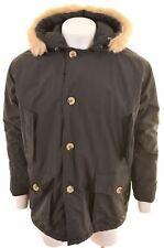 WOOLRICH Mens Parka Jacket Size 36 Small Black Loose Fit  BQ15