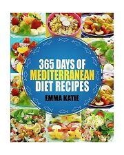 Mediterranean: 365 Days of Mediterranean Diet Recipes (Mediterr... Free Shipping