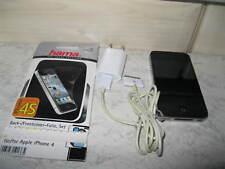 iPhone 4S-Silber-schwarz-gebraucht-mit Zubehör