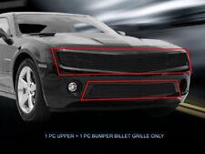 2010-2013 Chevy Camaro LT/LS V6 Black Billet Grille Grill Combo Insert Fedar