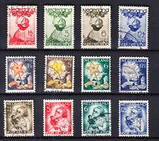 Nederland de Kinderzegels van 1933/34/35 gestempeld