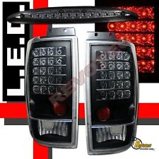 97-02 Ford Expedition XLT Eddie Bauer LED Tail Lights & LED 3rd Brake Light