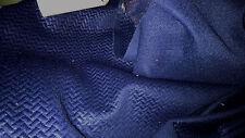 tissu jersey  lycra  scuba nid d'abeilles col marine 100x140 cm
