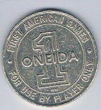 Oneida $1.00 Only At Bingo 1st American Games Token Oneida Wisconsin