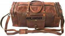 Leather Bag cyber monday Genuine Travel Duffel Vintage Weekend Luggage Overnight