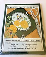 Pressed Flower Card Kit 8 Cards, Envelopes, Transp. Windows, Instructions NEW