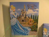 Walt Disney World Cinderella Royal Castle Picture Frame Theme Park Souvenir Card