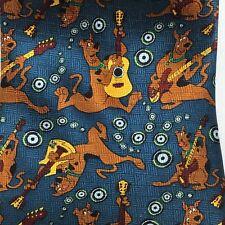 Cartoon Network Scooby Doo Tie Guitar Dog Blue 100% Silk Traditional Width 2001