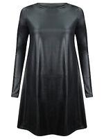 NEW WOMENS WET LOOK PVC SEXY BODYCON DRESS MINI SKIRT TOP LEGGINGS PLUS SIZE