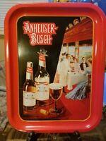 Anheuser Busch Tray 1987 repro some wear Budweiser Brewerania serving