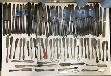 Lot Of 81 Vintage Butter Knives Antique Silverplate Mixed Lot Crafts Etc