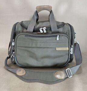 Briggs & Riley Baseline 221-7 Olive Cabin Duffle Carry On Bag Weekender $239